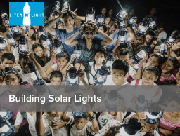 Building Solar Lights